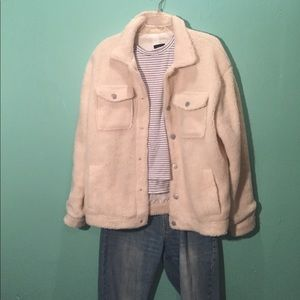 Jackets & Blazers - White Teddy Jacket